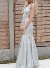 Women's Beautiful Sleeveless Long Silver Ballgown/Prom Dress