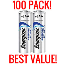 100 NEW ENERGIZER ULTIMATE LITHIUM AA BATTERIES 1.5V FRESH BULK WHOLESALE PACK