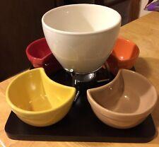 Pier 1 Imports Stoneware Chocolate Fondue Set