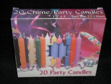 "Angel Chime Party Candles, 1/2"" Diameter x 4"" Tall, 20 in New Box, Lavendar,"