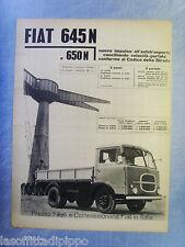 LAUTOM960-PUBBLICITA'/ADVERTISING-1960- FIAT 645N e 650N