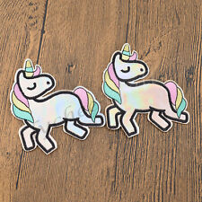 2x Unicorn Embroidery Patches DIY Sew Iron on Patch Jacket Coat Bag Hat Applique