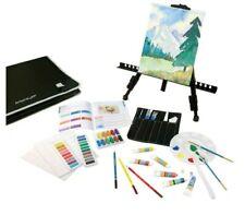 New! Artist's Loft 101 Piece Deluxe Studio Art Set w/Easel & Messenger Bag