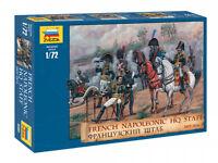 ZVEZDA 8080 FRENCH NAPOLEONIC HQ STAFF 1805-1814 SCALE MODEL KIT 1/72