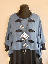 Moonshine Fashion° Süsse Lagenlook Tunika Shirt Baumwolle Rüsche ~ Rot ~ 2 3
