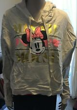 Disney Minnie Mouse Gray Sweatshirt Size L