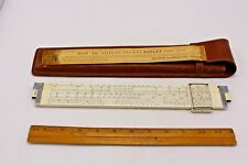 Keuffel and Esser Slide Rule PAT. 2086502 With Leather Case