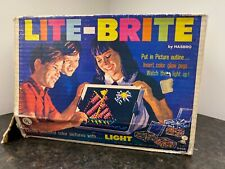 Original 1967 Lite-Brite Hasbro Toy Game In Box w/ Paper, Pegs, +Toy Story Set
