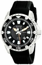 Bulova Men's 98B209 Stainless Steel Automatic Watch with Black Rubber Band