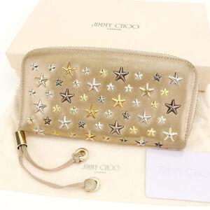 JIMMY CHOO Zip Around Wallet Ladies Authentic Used H394