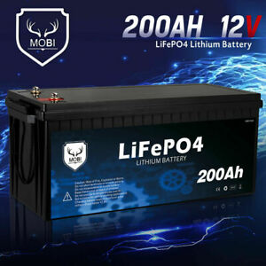 MOBI 200AH 12V LiFePO4 Lithium Iron Phosphate Deep Cycle Battery Replace AGM