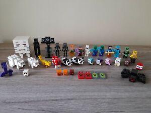 Lego Minecraft Minifigures Bundle Wither Ocelot Purple Creeper Panda Armor Steve