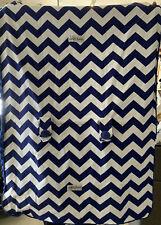 New listing Original blue and white Infant Carseat Canopy thick velvet blanket