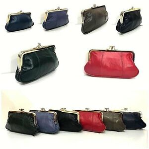 Real Leather Wallet Pouch Purse Big Coin  Super Soft Women Clip Top Ladies
