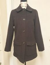 L.L Bean Coat Jacket Wool blend Brown Thinsulate Button down Lined Small Regular