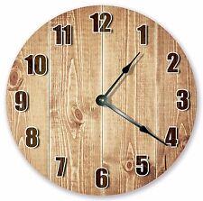 "10.5"" NICE WOOD GRAIN CLOCK- Large 10.5"" Wall Clock - Home Décor Clock - 3107"