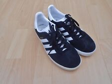 ADIDAS GAZELLE  TRAINERS UK SIZE 5.5 BLACK SUEDE - IN VGC
