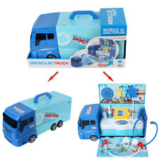 2 in 1 Kids Doctor Medical Pretend Role Play Set Emergency Rescue Truck Toy Gift