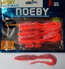 Noeby pêche leurre souple odorant worm twist 10cm non étiré 5,6g couleur 210