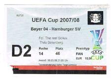 Ticket - Bayer Leverkusen v Hamburg 2007/08 UEFA Cup