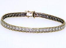 Vintage 14k Two-tone 1.50ct VS2/G Diamond Fancy Link Line Bracelet