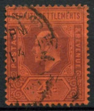 Malaya Straits Settlements 1902-3 SG#112, 4c Purple/Red KEVII Used #A81925