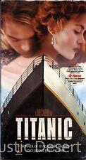 Titanic (VHS 1998) Leonardo DiCaprio, Kate Winslet (2 Tape Set) (new, unopened)