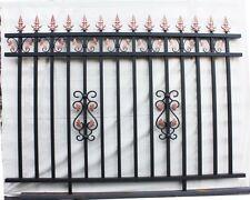 GARDEN ALUMINIUM FENCING SPEAR PANELS House fence1.8mX2m To-door installation