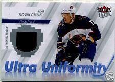 ILYA KOVALCHUK 2007-08 FLEER ULTRA UNIFORMITY GAME USED JERSEY