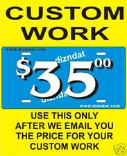 CUSTOM MADE PHOTO AIRBRUSH LICENSE PLATE CAR TAG $35.00