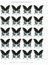 SPICEBUSH SWALLOWTAIL BUTTERFLY STAMP SHEET -- USA  #4736 66 CENT 2013