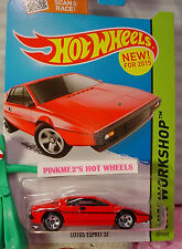 Case E 2015 Hot Wheels LOTUS ESPRIT S1 #219☆New Red; 5sp☆New Model