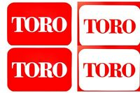 Toro Lawn Mower Decal, Sticker, 6 YR WARRANTY, LOT x2, 2 COLOR, 3 SIZES, +1 FREE
