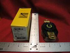 Hubbell  HBL2310 Twist-Lock Receptacle  2P3W 20A 125V L5-20R Black Nylon Face
