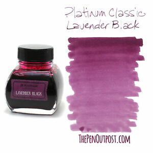 Platinum Classic Ink - 60ml bottle - Lavender Black - Iron Gall