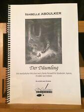 Aboulker Der Däumling / Petit poucet partition chant piano allemande Notissimo