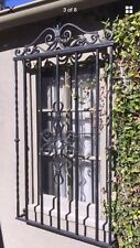 Iron Window Grid Spanish Antique Old Vintage Rod McKuen Estate