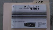 JVC ks-c100 user owner instruction book guide manual stereo car radio
