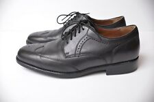 Johnston & Murphy XC4 Men's sz 9.5 Black Leather Branning Wing Tip Oxford Shoes