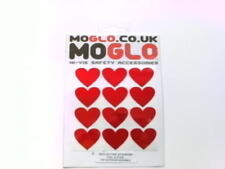 Reflective LOVE HEART valentine stickers * 6 colours available