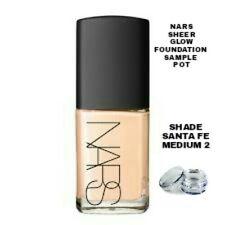 NARS Sheer Glow Foundation Sample Pot Shade Santa FE Medium 2