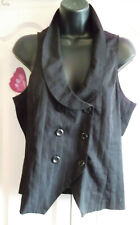 steampunk/ new with tags size 14 black waistcoat top steampunk style.tu label