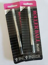 Parker Rollerball Ink Refill Fine Point - Black 3021331 Old Stock Lot of 2 New
