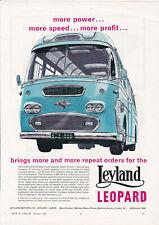 ORIGINAL 1962 MAGAZINE ADVERT FOR  A LEYLAND LEOPARD MOTOR COACH