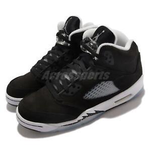 Nike Air Jordan 5 Retro GS AJ5 Moonlight Oreo Black Junior Kids Women 440888-011