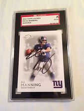 Eli Manning AUTOGRAPHED ON CARD 2011 Topps Legends SGC CERTIFIED