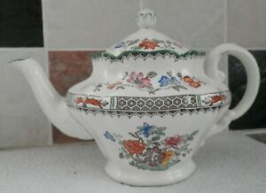 VINTAGE COPELAND SPODE CHINESE ROSE design SMALL TEAPOT  c1920s