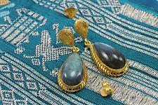 Handmade Labradorite Brass Fashion Earrings