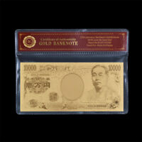WR Japan 10000 Yen Gold Banknote Nippon Ginko Money Bill Note Lucky Item Gifts