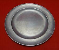 "Pair of Antique Pewter Plates 12.5"""